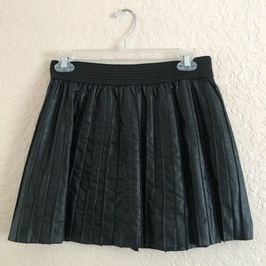 Material Girl Black Faux Leather Skirt